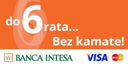 Plaćanje karticama Banka Inteze na 6 rata bez kamate